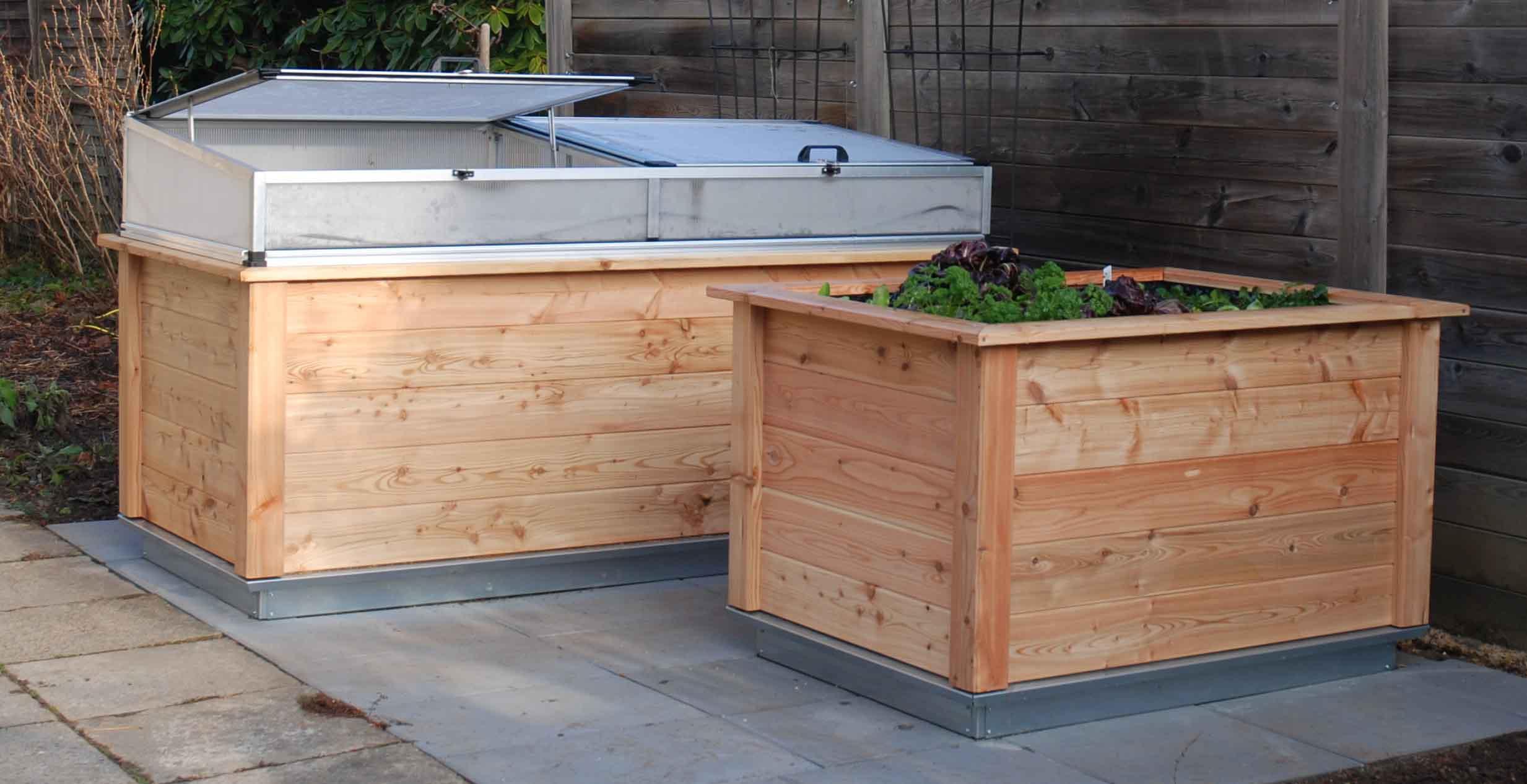botanicum gmbh hochbeet larix 130 und larix 210. Black Bedroom Furniture Sets. Home Design Ideas